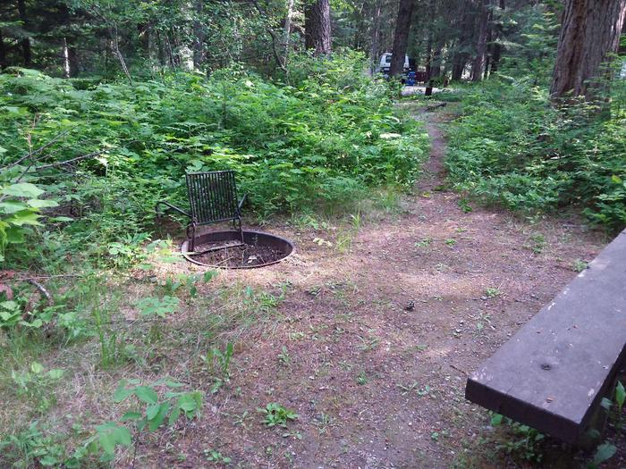 Yaak River Site 5 - fire ring