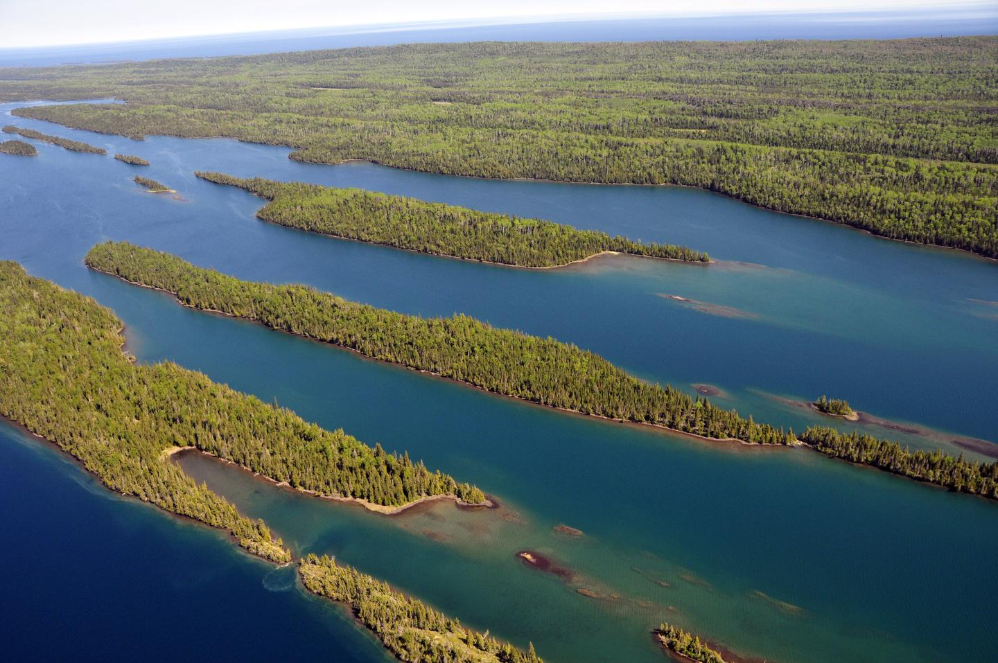 Aerial View of Belle HarborOne of the best ways to view Isle Royale's land and water is from the air.