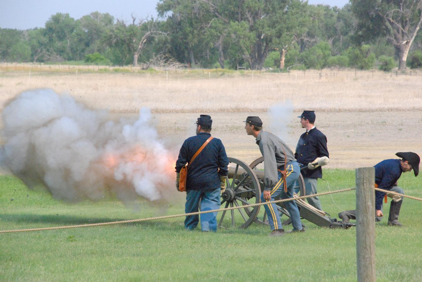 Artillery DemonstrationThe black powder demonstrations remain one of the most popular interpretive programs offered at the site.