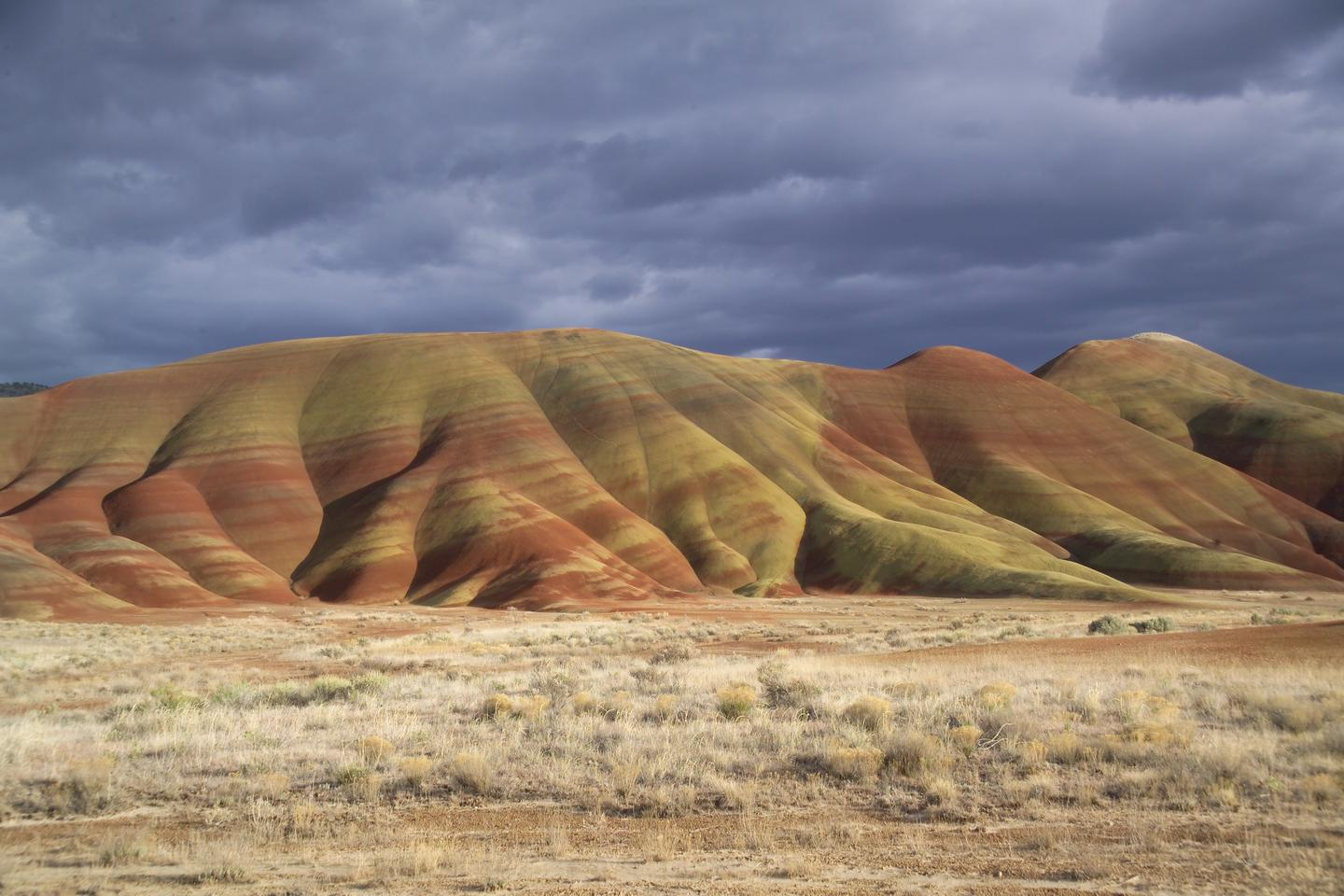 Painted HillsThe Painted Hills on a stormy winter day.