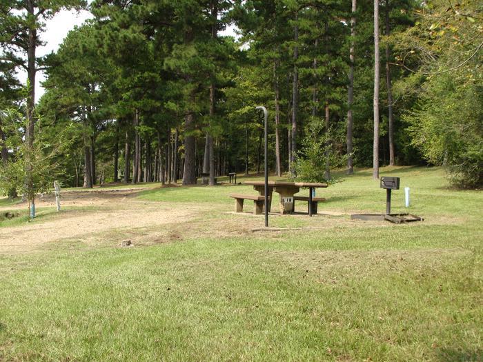 Campsite # 18Self Creek campsite # 18