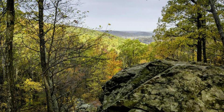 Blue Ridge SummitBlue Ridge Summit offers hikers a view northward into Pennsylvania.