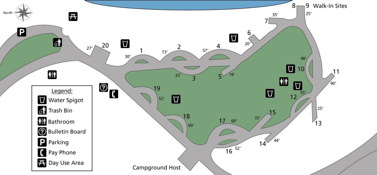 Site Map Porcupine Bay Campground