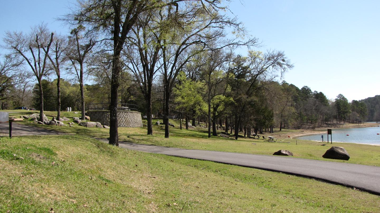 View of campsites overlooking swim areaView of campsites 29, 30, and 31 overlooking swim area