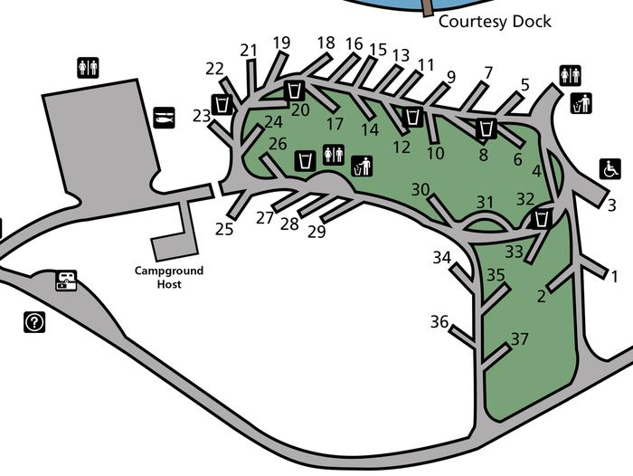 Hunters Campground Map