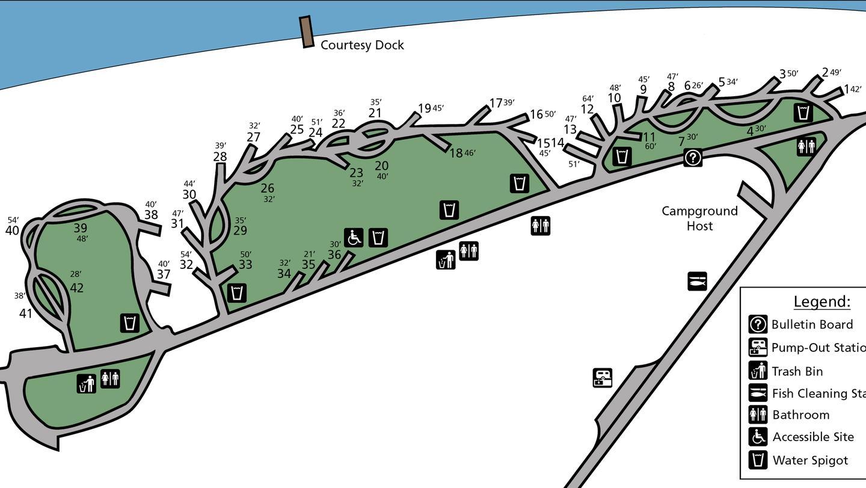 Gifford Campground Site MapGifford Campground site Map.