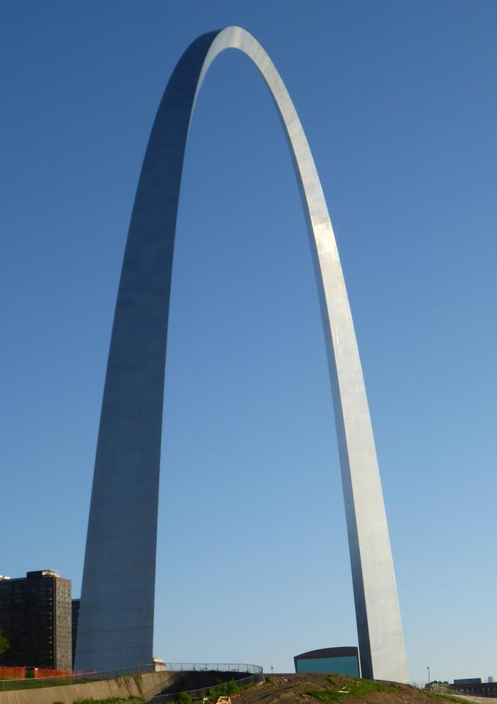 Gateway ArchOver a million people visit the Gateway Arch each year.