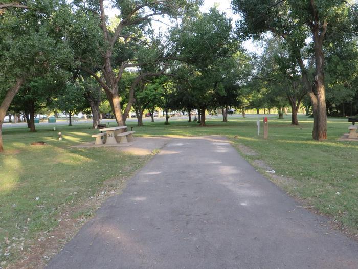 View of Campsite 34Campsite 34
