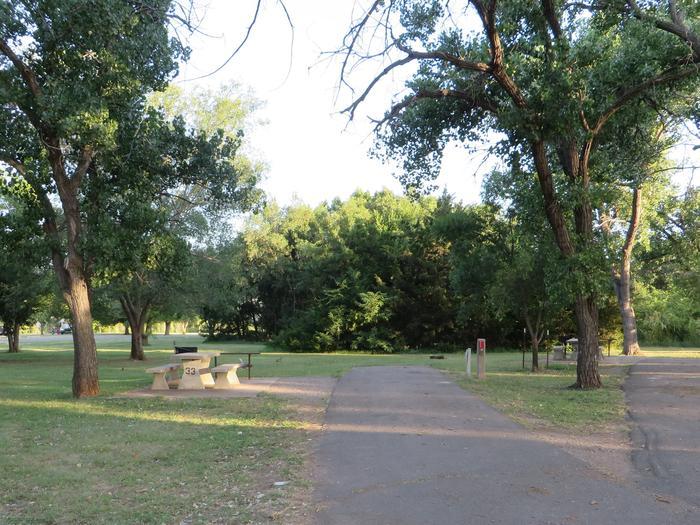 View of Campsite 33Campsite 33