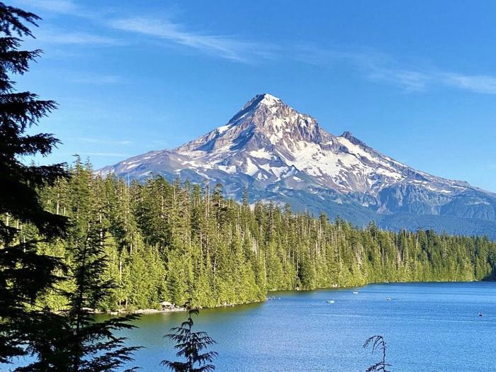 LOST LAKE RESORT AND CAMPGROUNDStunning views of Mount Hood and Lost Lake, Oregon.