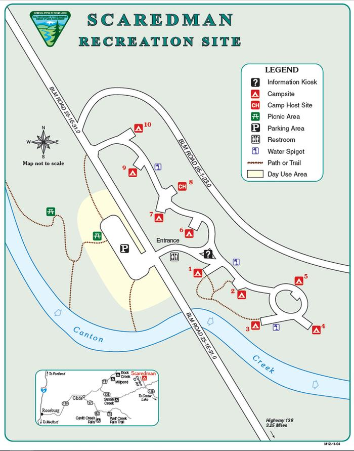 Recreation Site Layoutview of all campsite locations