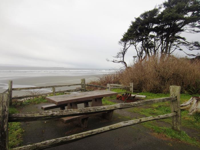 D024View of picnic table and fire ring