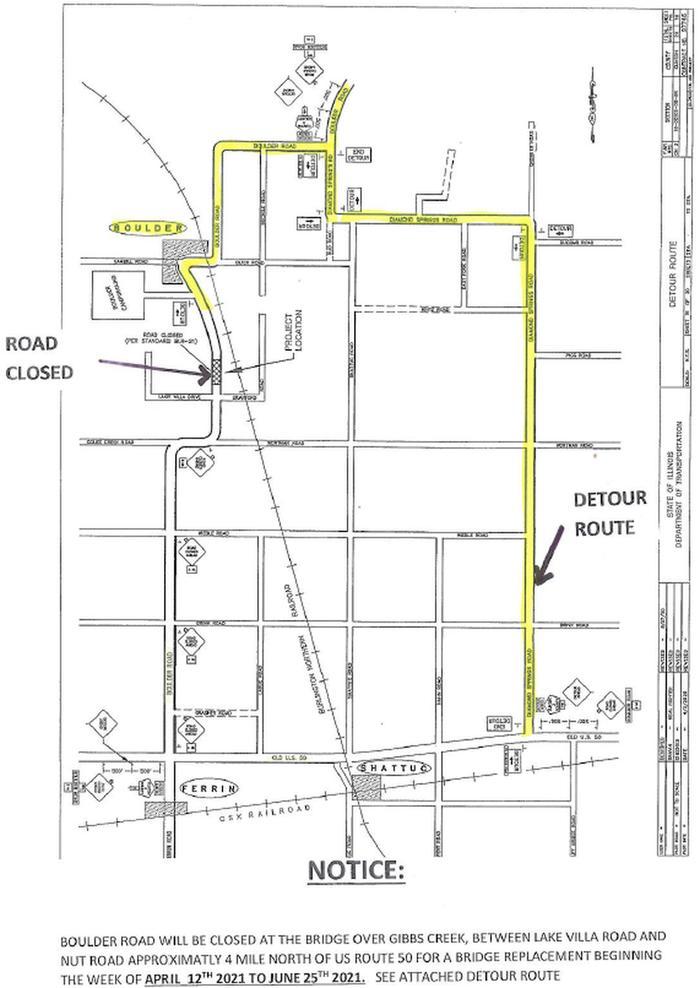 Boulder RD detour