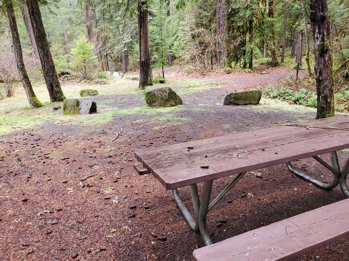 site 4 picnic tableview to campground from picnic table