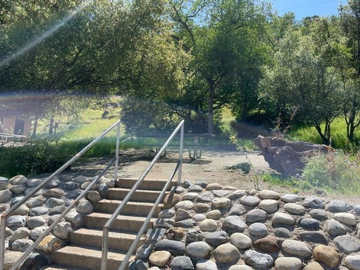 Stairs to picnic siteStairs and picnic area at site #12