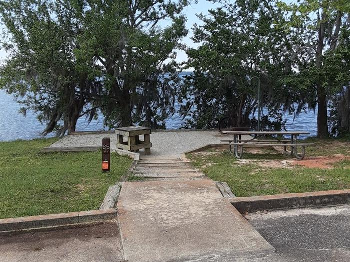 B65B65 site located by boat ramp parking area