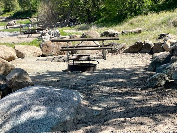 Picnic area at site 15.Picnic table and fire ring for site 15.