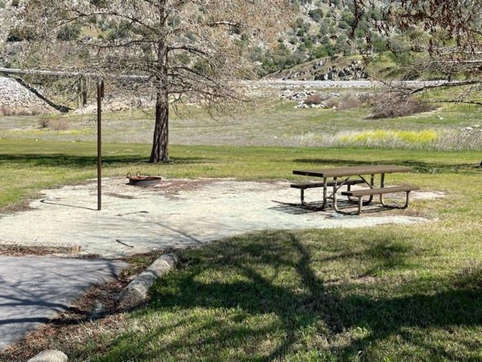Picnic site for 26.Picnic table, fire ring, and lantern hook for site.