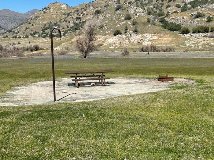 Open campsite with great views including star gazing.Picnic table, fire ring, and lantern hook at site.