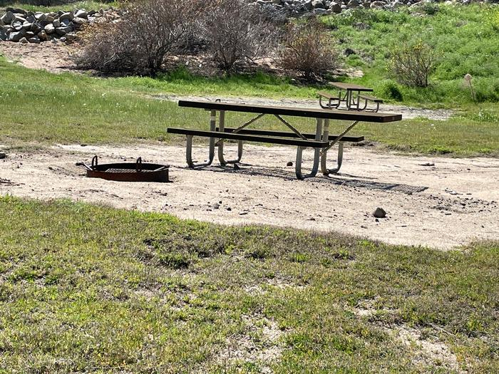 Picnic areaPicnic table and fire ring for campsite.