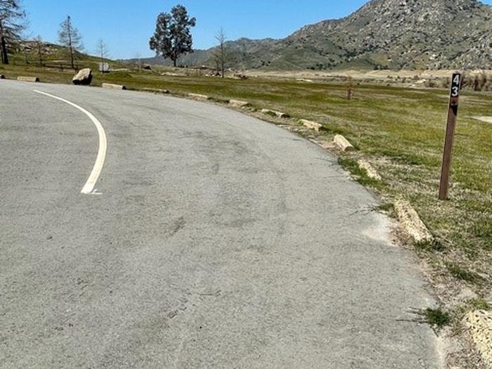 Roadside pull-through site.Roadside pull-through site. Slight uphill grade.