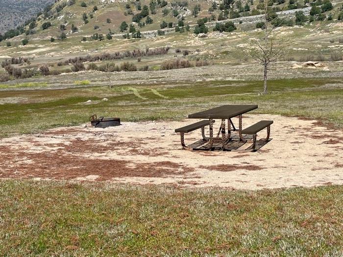Picnic area.Picnic area at campsite.