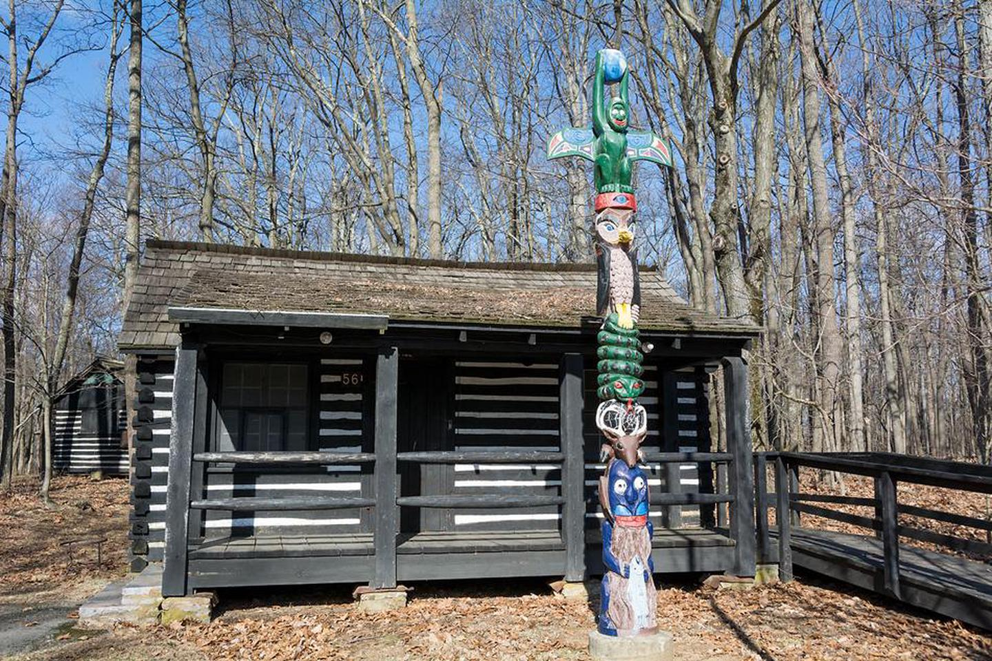 Camp GreentopThe Camp Greentop Office features a colorful totem poll.