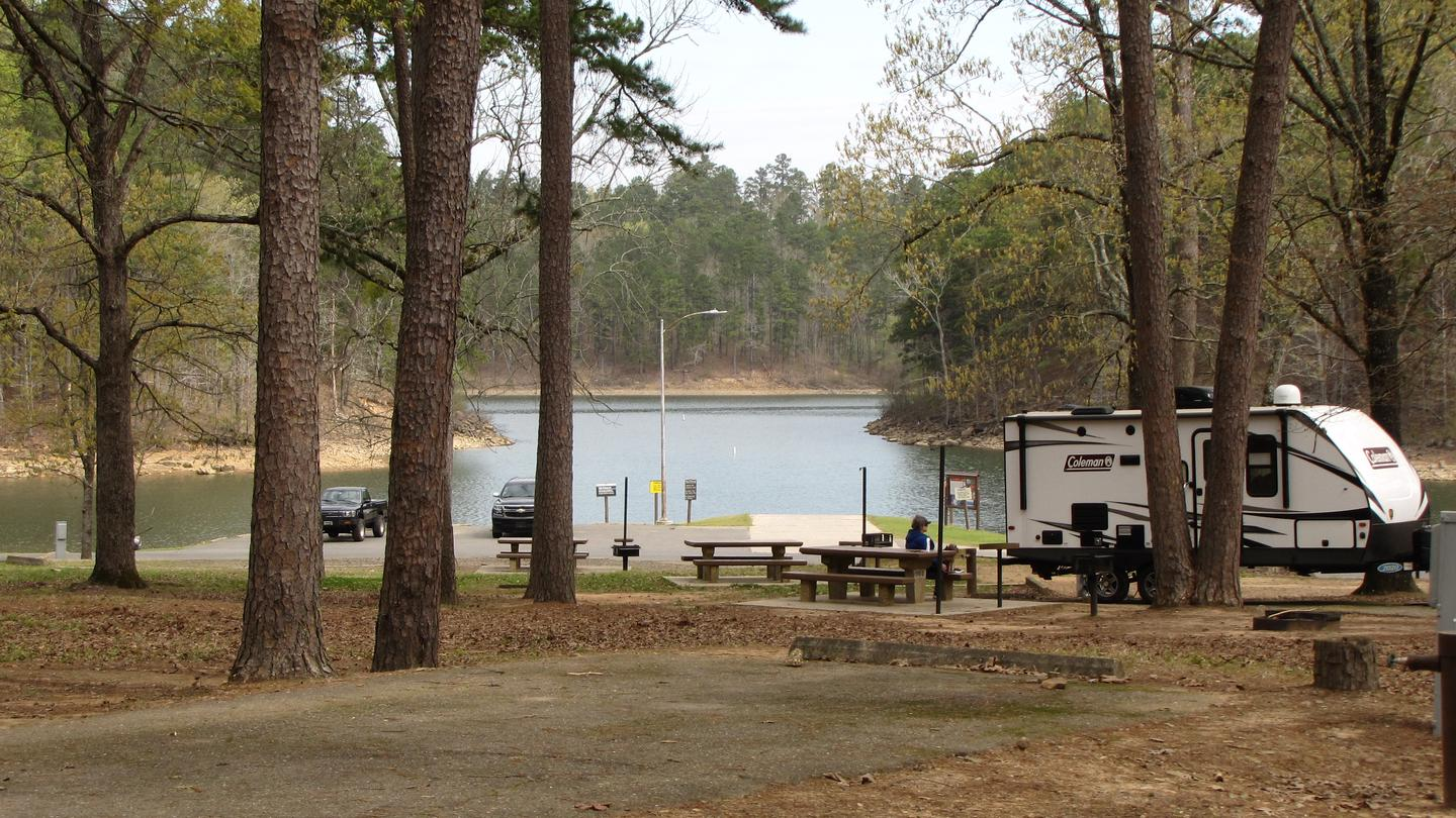 PARKER CREEKCampsites and view of boat ramp