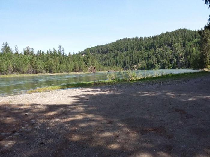 Kootenai River at Yaak River Campground boat launch