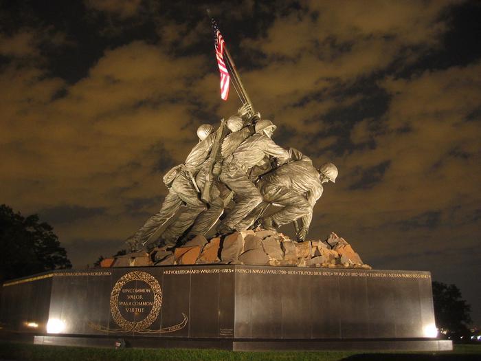 United States Marine Corps War MemorialUnited States Marine Corps War Memorial at night