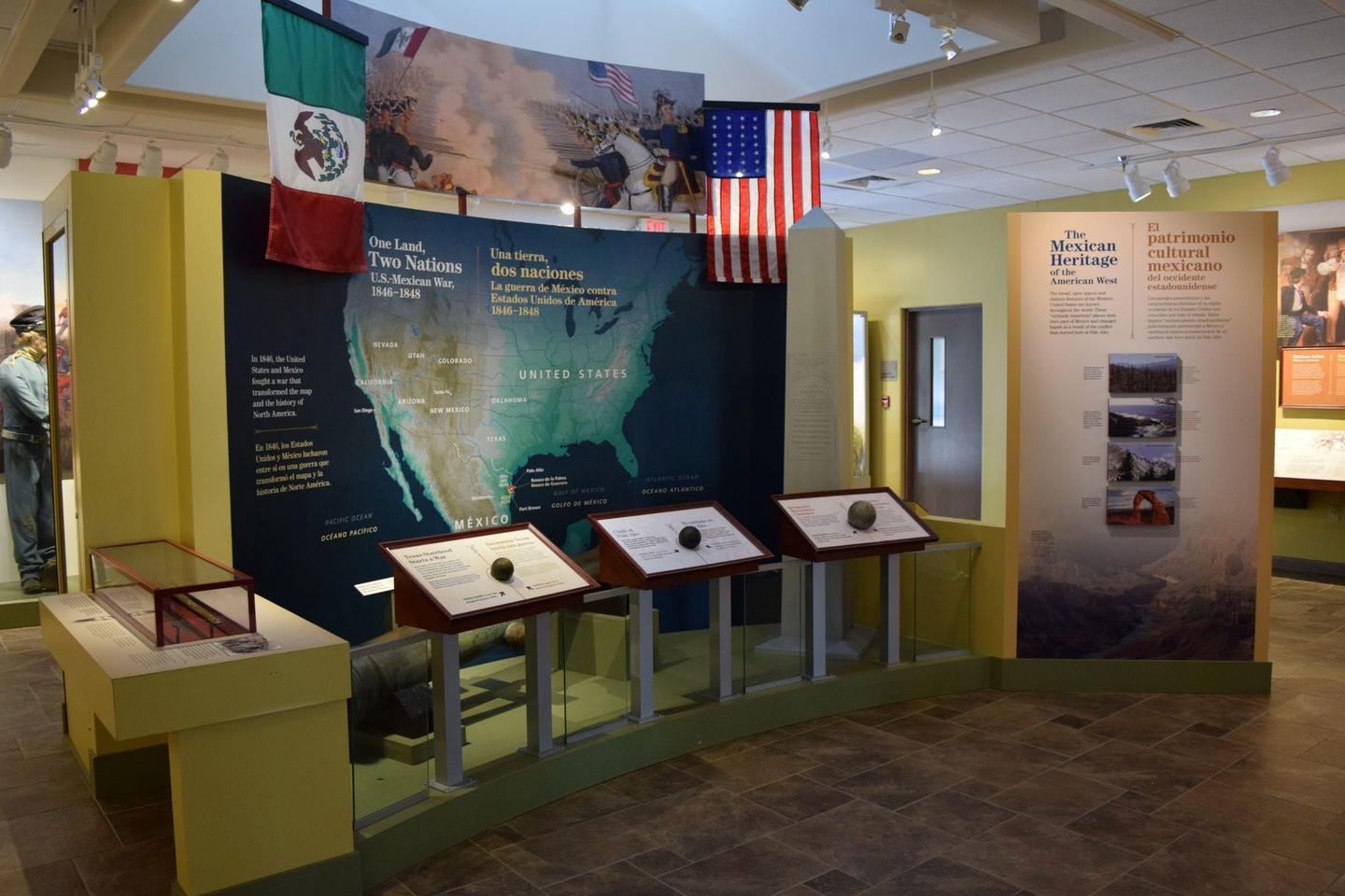 Visitor Center exhibit areaThe Visitor Center's exhibit introduces visitors to a part of U.S. history they may not know.