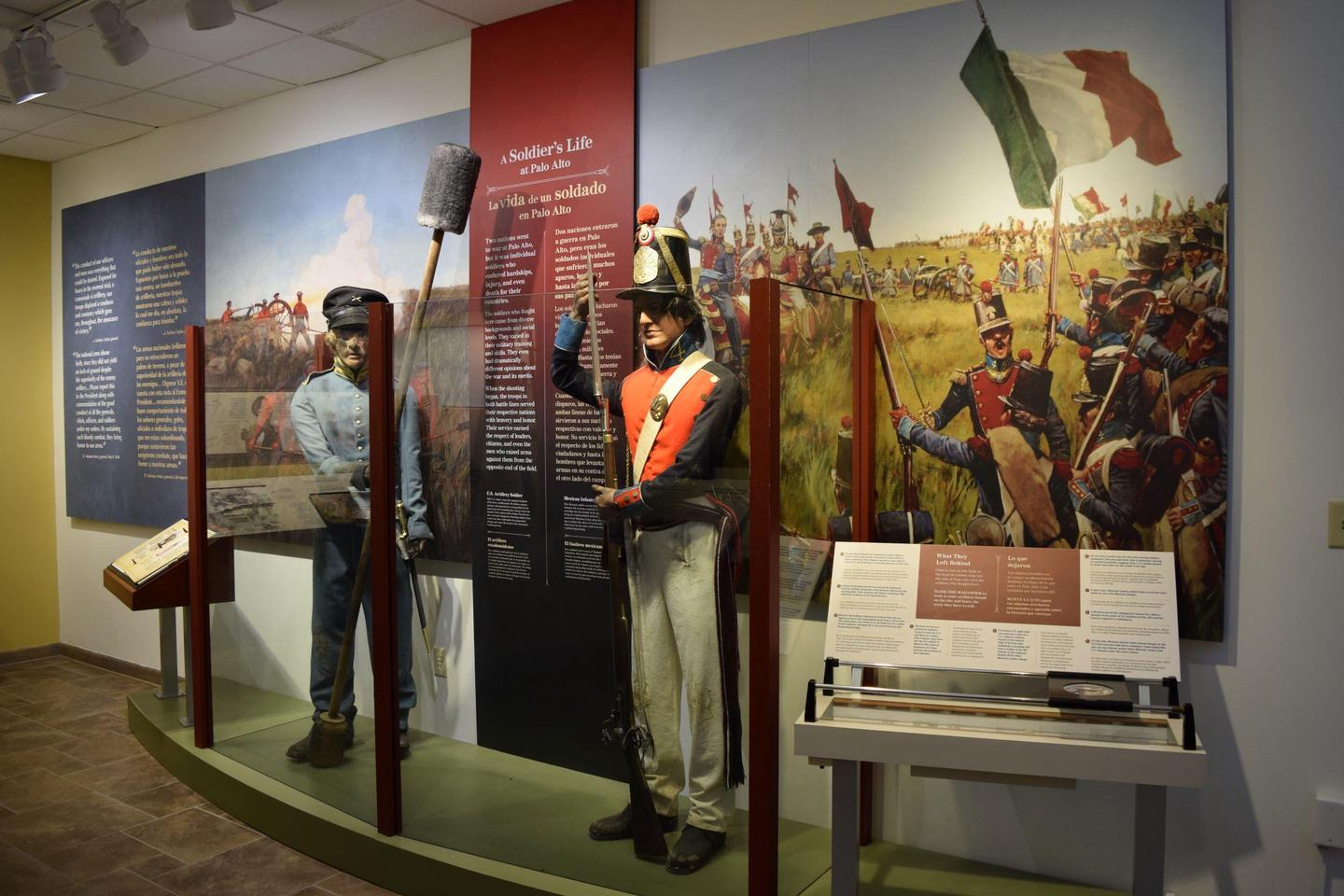 MannequinsMany visitors are surprised to see what military dress was like during the Mexican War.