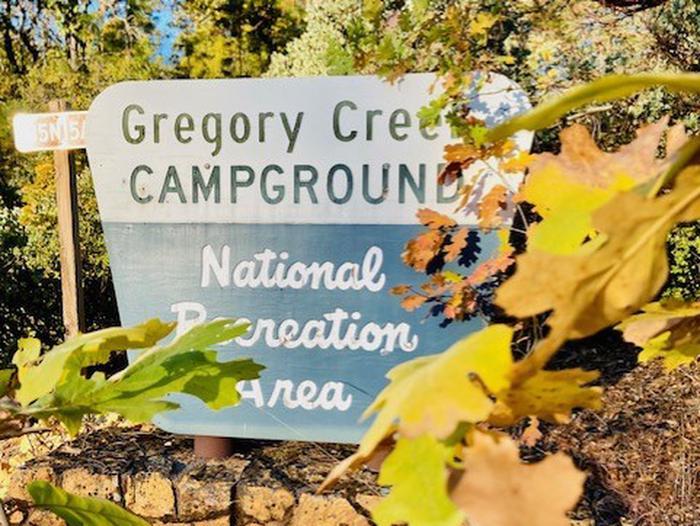FallGregory Creek Sign in the Fall