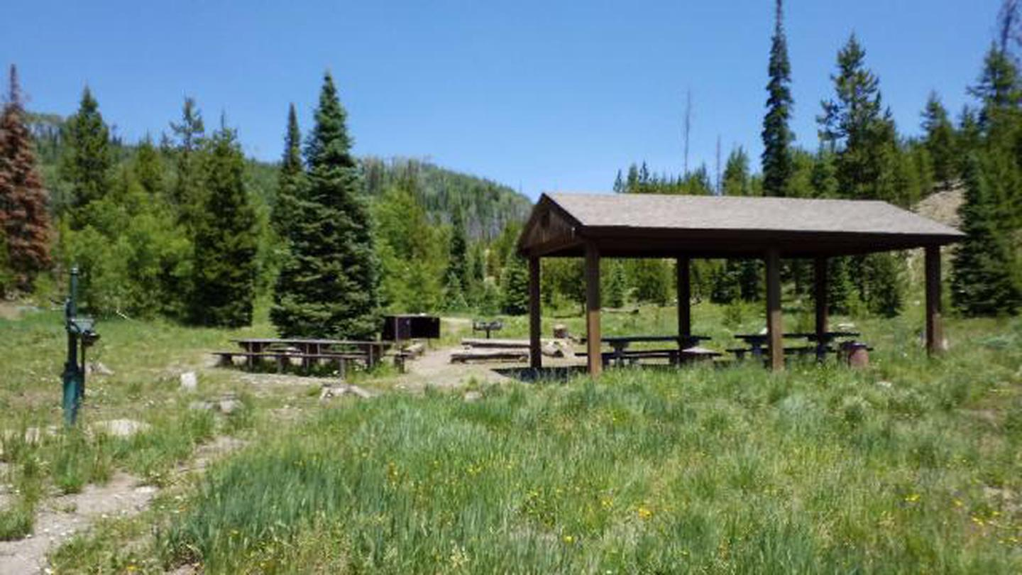 Seedhouse Group Campsite picnic pavilionSeedhouse Group Campsite picnic pavilion, hand pump, & bear box