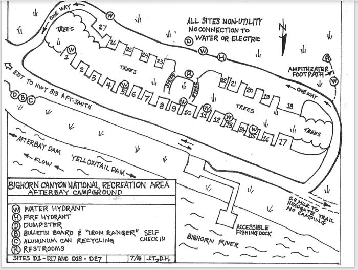 Afterbay Campground Map