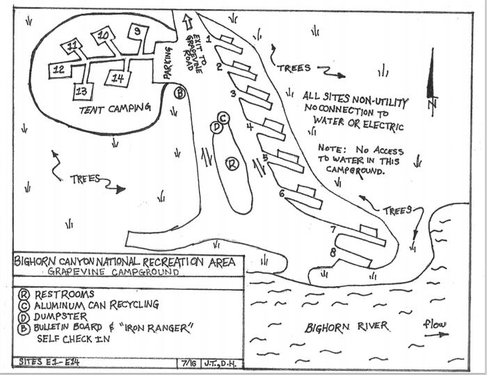 Grapevine Campground Map
