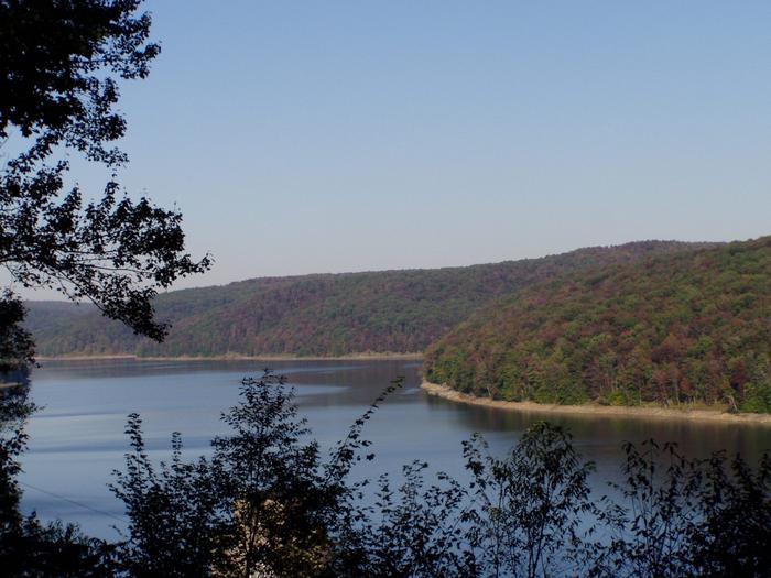 East Branch Lake looking EastLooking East from western shore.