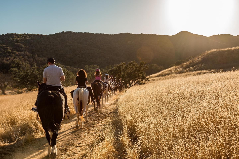 Equestrians on Trail