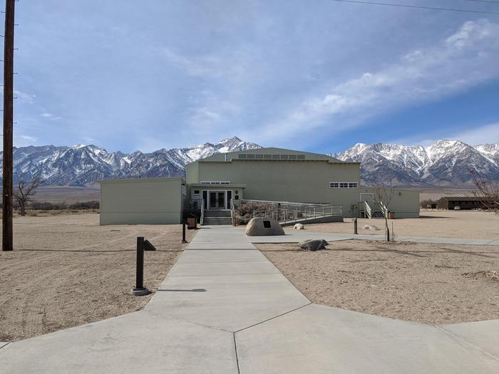 Manzanar National Historic Site Visitor CenterThe Manzanar visitor center has exhibits, bookstore, restrooms, and park rangers to answer questions.
