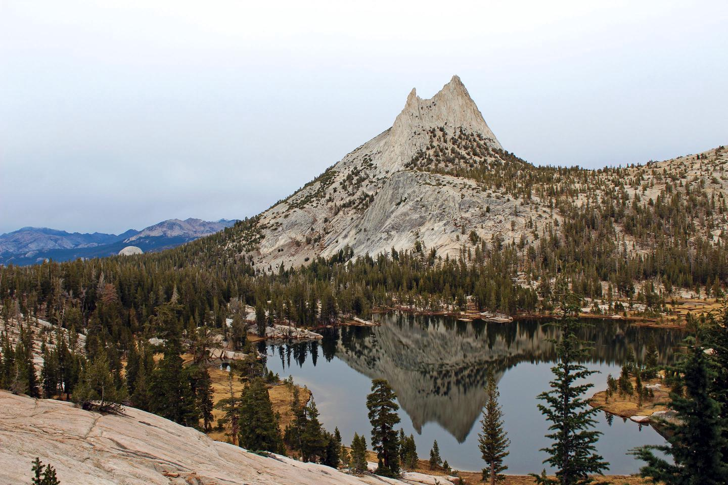 Cathedral Peak and Lake in AutumnCathedral Peak is one of the most recognizable peaks in the Yosemite Wilderness.
