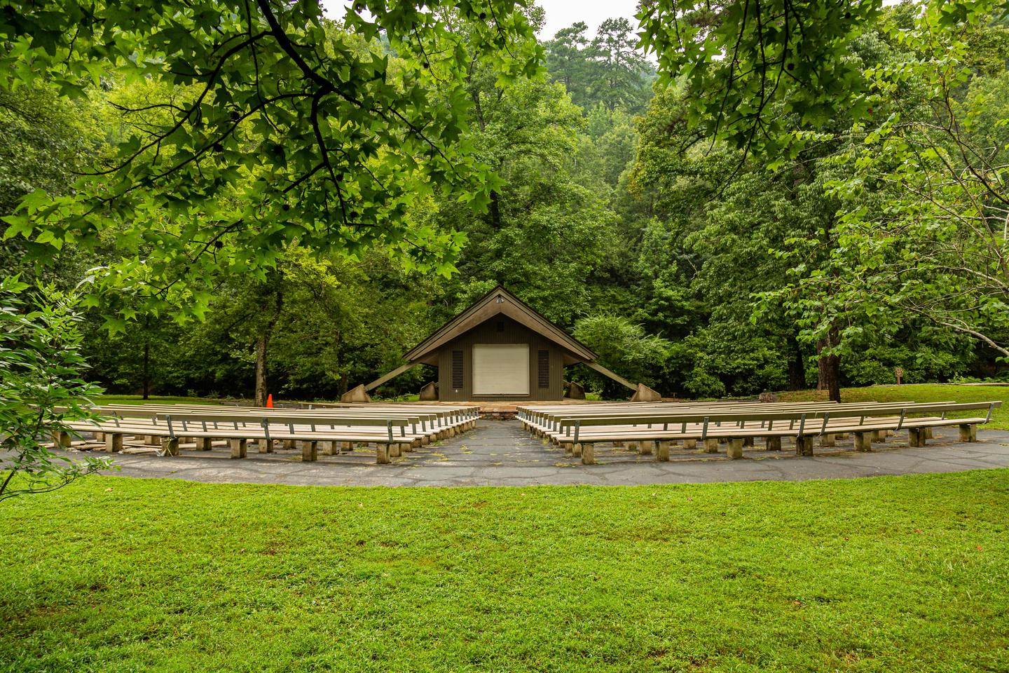AmphitheaterThe amphitheater is a great place to host events and bring campers together