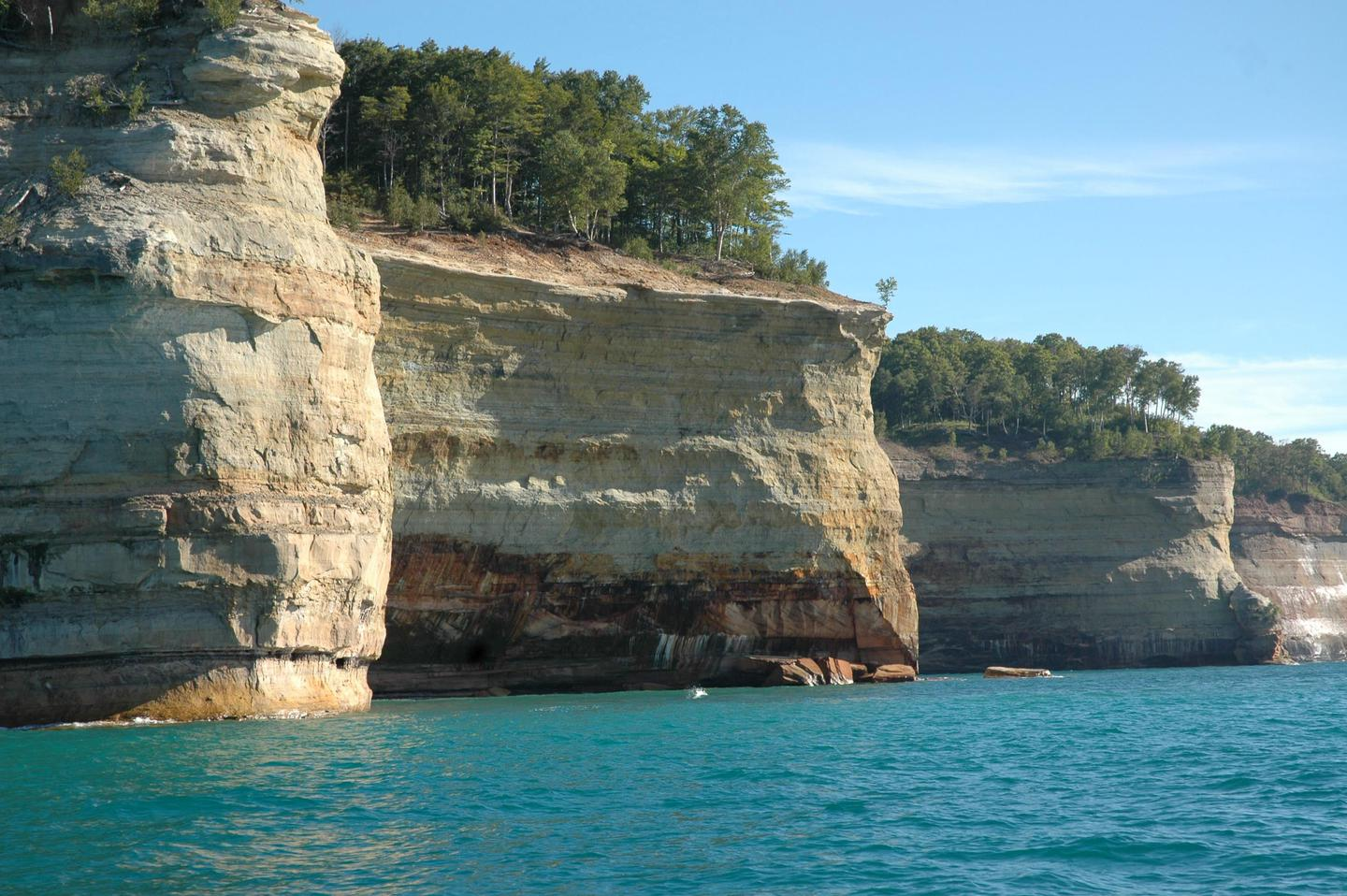 Battleship Row15 miles of carved and colorful cliffs along the Lake Superior shoreine.