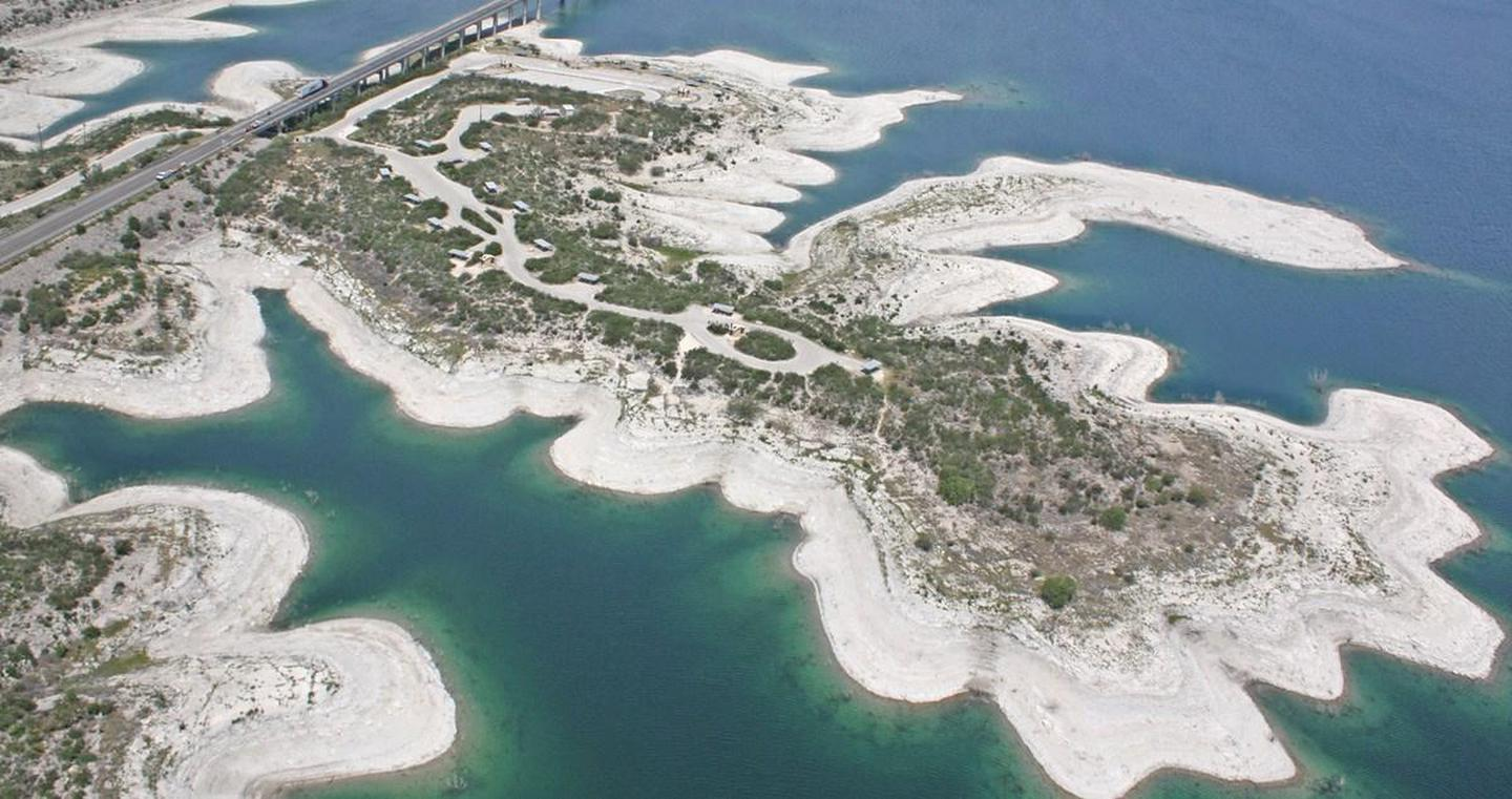 Arial view of Governors Landing Campground