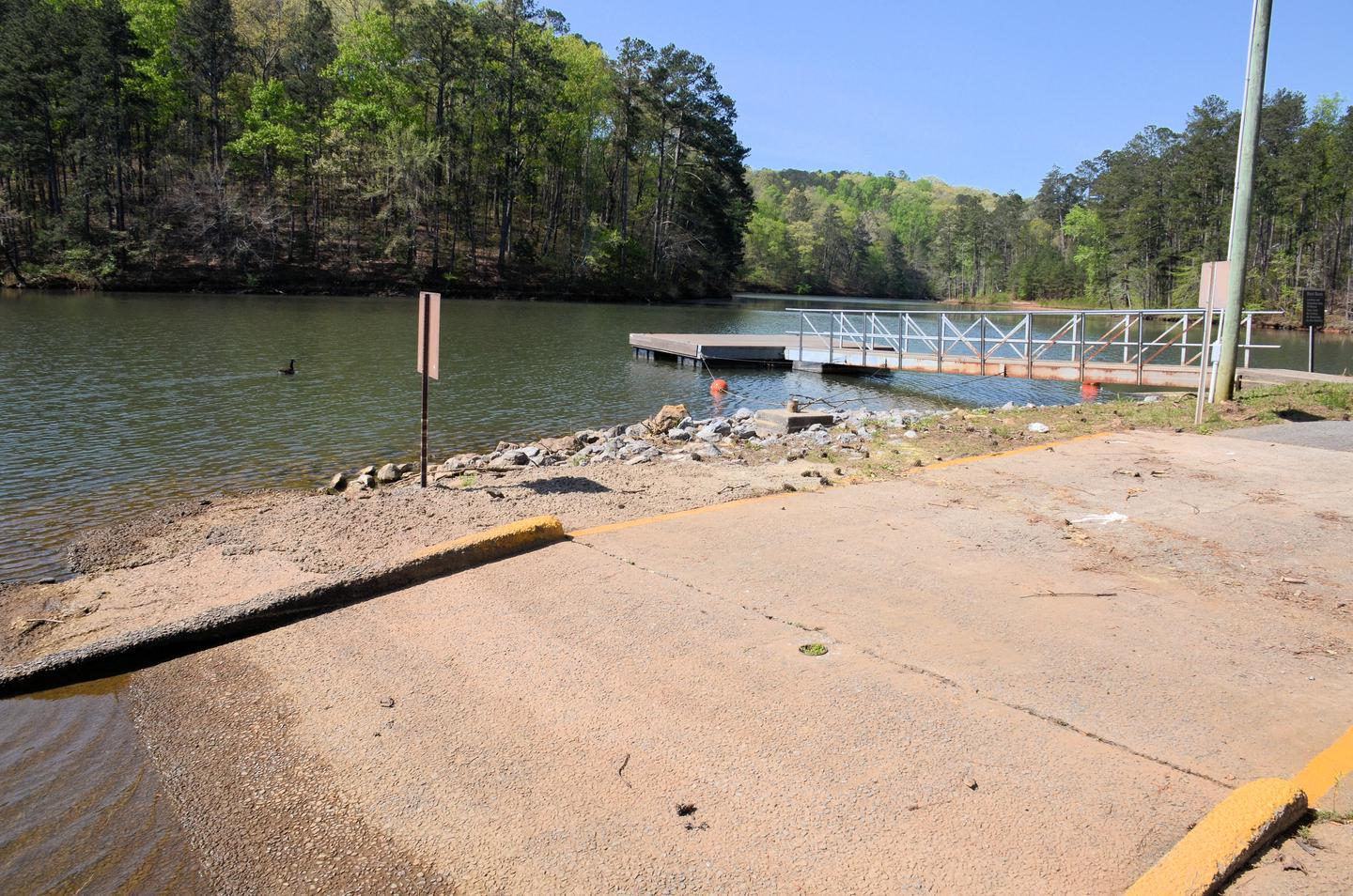 McKaskey Creek Campground Boat Ramp and Courtesy Dock