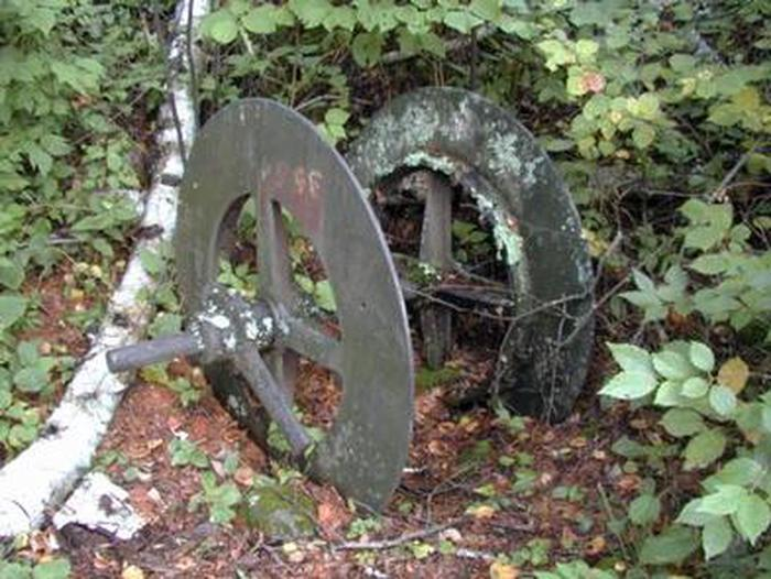 Antique machinery at Little American Island