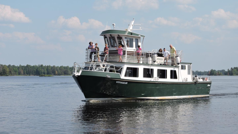 VOYAGEURS NATIONAL PARK TOURSThe Voyageur Tour Boat on Rainy Lake