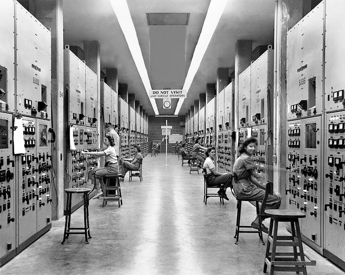 "Calutron GirlsThe Calutron Girls operated the arrays, or ""racetracks"", at Oak Ridge's Y-12 Electromagnetic Isotope Separation Plant during the Manhattan Project."