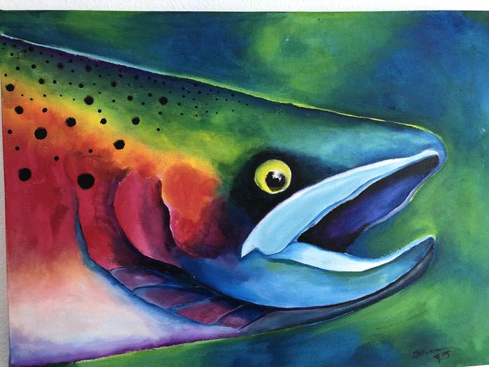 Painting of a fishFish