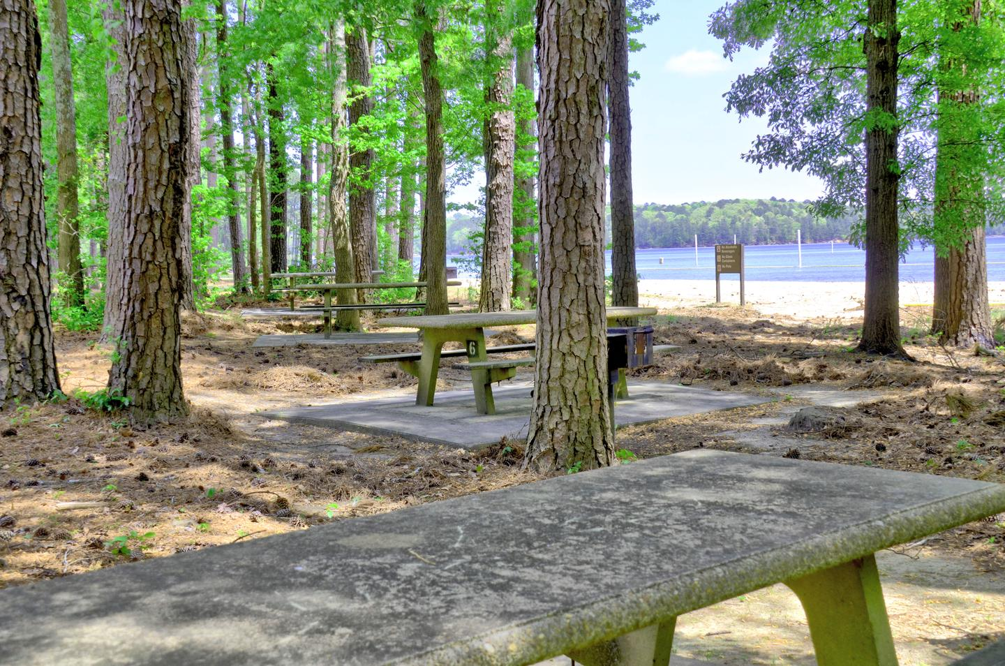 Sweetwater Day Use Picnic Area Near Beach.