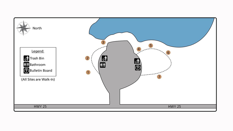Cloverleaf Campground Site Map